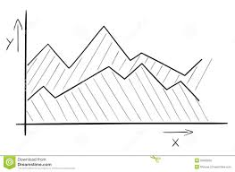 Line Chart Sketch Sketch Of The Area Chart Stock Vector Illustration Of Hand