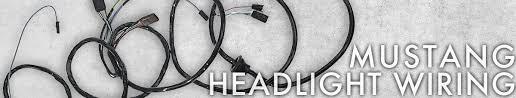 mustang headlight wiring cj pony parts mustang headlight wiring 1964 1978