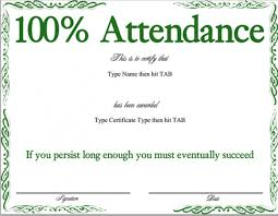 Download Free 11 Attendance Certificate Template Document And