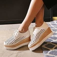 Yesstyle Shoe Size Chart Perforated Lace Up Platform Shoes