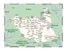 Детальная карта Южного Судана со всеми городами | Южный Судан | Африка |  Maps of the World | Карты всех регионов, стран и территорий Мира