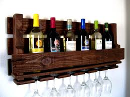 dark brown wall mount wine rack furniture with hanging racks too