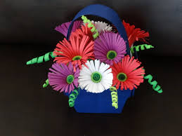 Paper Quilling Flower Baskets Part I How To Make Quilling Flower Basket Youtube