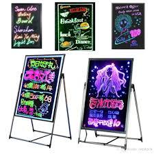 Led Light Display Advertising Board 2019 Led Study Board Cooler Door Shop Light Led Diy Boar For Bar Store Hotel Sign Lights Promotion Advertisement Board Led Neon Lights From Crestech