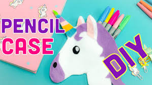 Decorate Pencil Case No Sew Unicorn Pencil Case Diy Back To School Ideas Youtube