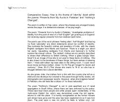 comparative essay how is the theme of identity dealt in the document image preview