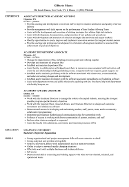 Academic Associate Resume Samples Velvet Jobs