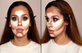 now simply blend both shades of foundation you have applied on blend all edges of shaded parts softly and contoured it well to give it a natural look