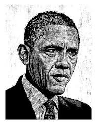 Obama' Giclee Print - Neil Shigley   Art.com in 2020   Stretched canvas  prints, Stretch canvas, Woodcut art