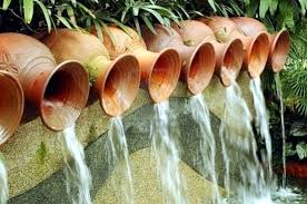 terracotta fountains for the garden