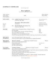 Resume Resume And Cv Examples
