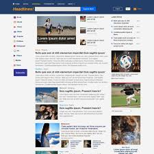 Newspaper Web Template Free Download Free News Magazine Bootstrap Website Template
