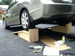 wooden car ramp low clearance ramps for the civic generation civic forum wooden car ramps uk