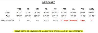 Yxs Size Chart Size Chart