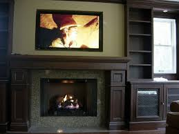 plasma above fireplace