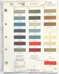 Find 1969 Dodge Ppg Color Paint Chip Chart Charger Dart All