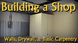 building an office. Building An Office In My Woodworking Shop (walls, Drywall, Mudding, Paint) - YouTube O