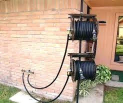 garden hose storage box water hose reel electric garden awesome dual ft hideaway storage bin with