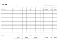 Basketball Stat Sheet Excel Plus Printable Basketball Stat Sheet ...