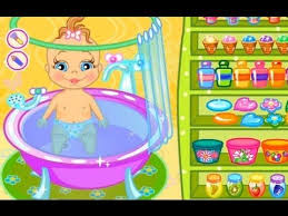 Baby Bathing Game for little baby - doras games   Games for Kids ...