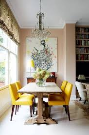 Yellow dining room chairs Innovative Yellow Leather Dining Room Chairs House Garden Small Dining Room Ideas Decorating Small Spaces House Garden
