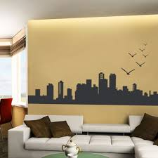 city skyline wall decal skyline wall decal