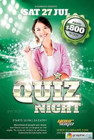 trivia night flyer templates quiz night flyer template free download vector stock image
