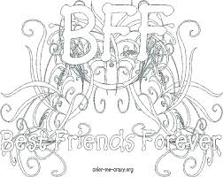 Bff Coloring Pages Cute Best Friend Friends With Superb Friendship