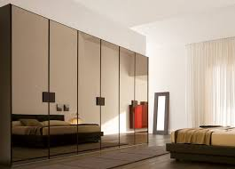bedroom cabinet designs. Sleek Wardrobe Designs For Contemporary Interior: Luxurious Glossy Look Modern Bedroom Style Reflection Mirror Design Id.. Cabinet