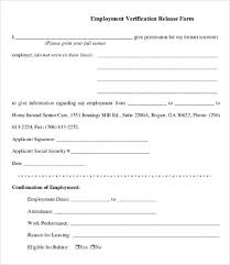 Employment Verification Form Printable Sample Letter Of Coloring