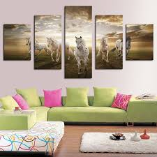 unframed 5 pcs high quality cheap art pictures running horse large hd modern home wall decor abstract canvas print oil painting in painting calligraphy  on large art oil painting wall decor canvas with unframed 5 pcs high quality cheap art pictures running horse large
