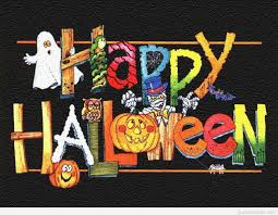 funny happy halloween message cartoon