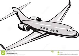 Airplane Clip Art Clipart Plane Line Graphics Illustrations Free Download On