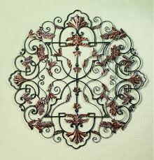 on wrought iron metal wall sculpture art with 50 staggered divinity handmade iron wall sculpture
