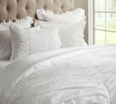hadley ruched duvet cover sham pottery barn down alternative reversible comforter white gray queen