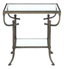 desk with glass top metal end table with glass top glass table top protector home depot