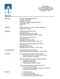 Simple Resume Format For Freshers Free Download Resume Examples