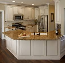 White Kitchen With Granite Countertops Furniture Amazing Conventional Kitchen Wooden Cabinet Refacing