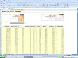 mortgage payment table spreadsheet loan amortization schedule excel