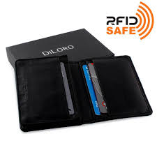 Wallet By Diloro Italy Mens Leather Business Card Wallet Holder Rfid