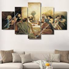 image is loading jesus christ amp apostles painting wall art canvas  on wall art canvas picture print with jesus christ apostles painting wall art canvas print christian