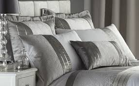 Silver Curtains For Bedroom Silver Grey Luxury Duvet Quilt Cover Bedding Bed Set Or Curtains