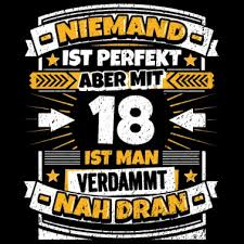 18 Geburtstag Ladebalken Witzig Spruch Männer T Shirt Spreadshirt