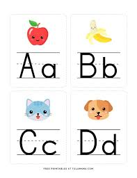 Free printable color flashcards for toddlers. Fun Free Engaging Alphabet Flash Cards For Preschoolers Tulamama