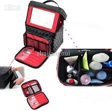 super large capacity multi function cosmetic train cases makeup bag portable storage box 5colours
