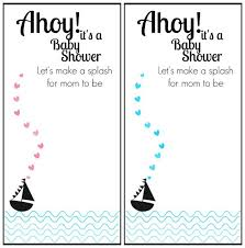 How To Make Printable Invitations Free Printable Nautical Themed Baby Shower Invitation Baby