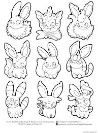 Pokemon Coloring Pages Eevee Evolutions Coloring Pages Printable