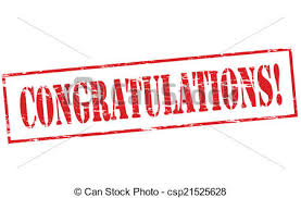 word of congratulations congratulations rubber stamp with word congratulations inside