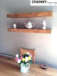 thick wood shelves floating awesome reclaimed chunky rustic wall shelf dark shelve thick wood shelves