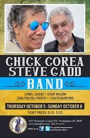 <b>Chick Corea</b> – <b>Steve Gadd</b> Band, October 5-8! » DCjazz